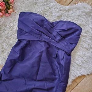 J.Crew Collection Duponi Silk Strapless Dress